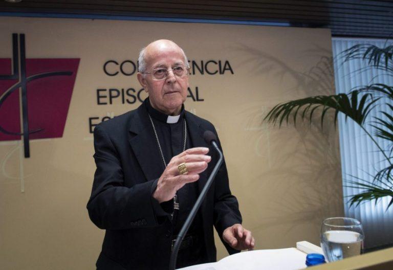 Ricardo Blázquez, en la comparecencia ante los medios ante el referéndum del 1-O en Cataluña/EFE