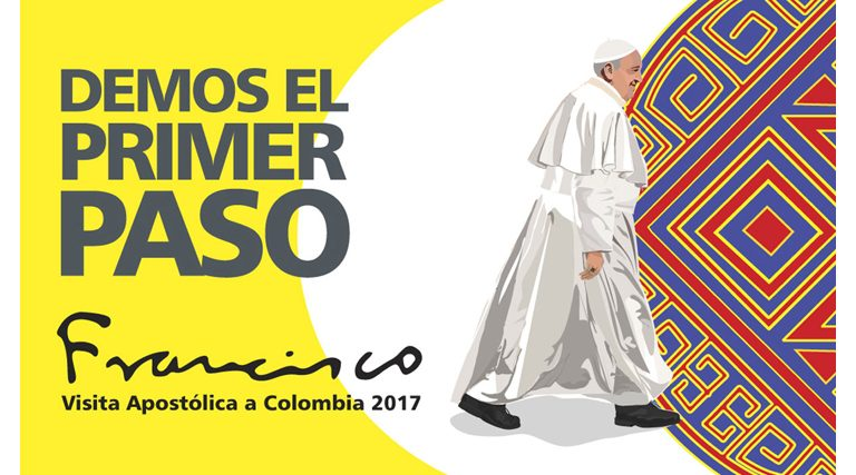 logotipo cartel del viaje del papa Francisco a Colombia 6-10 septiembre 2017