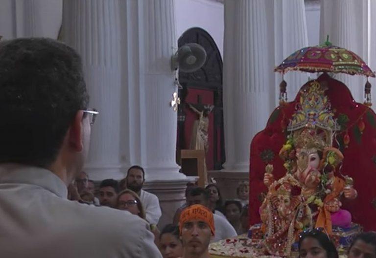 La deidad hindú, en su visita a la Virgen de África Nuestra Señora patrona Ceuta Ganesh