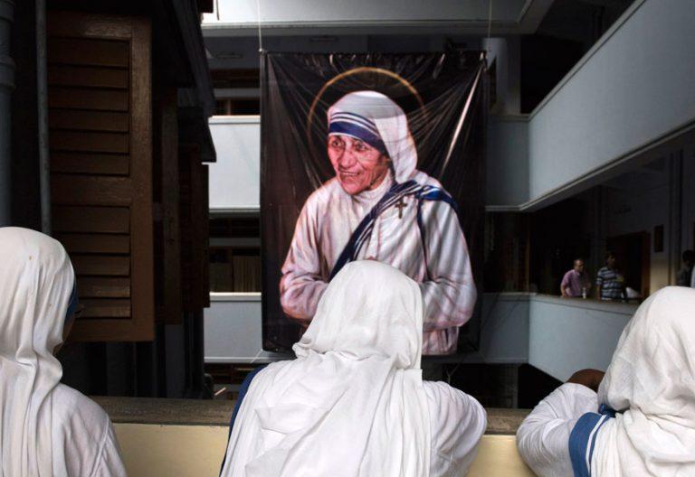 misioneras de la Caridad en Calcuta durante la canonización de Madre Teresa 5 septiembre 2016