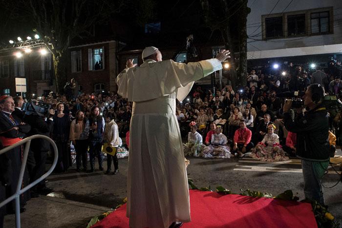 papa Francisco viaje apostólico a Colombia 6-10 septiembre 2017 bienvenida en la Nunciatura Apostólica