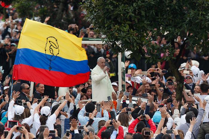 papa Francisco viaje apostólico a Colombia 6-10 septiembre 2017 misa en Bogotá Parque Simón Bolívar