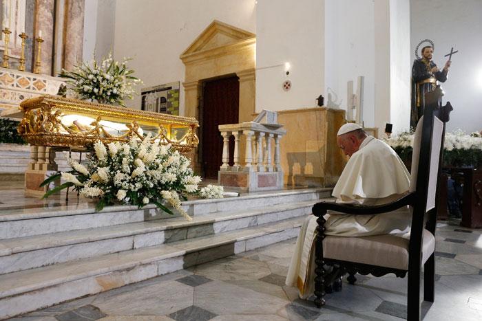 papa Francisco viaje apostólico a Colombia 6-10 septiembre 2017 iglesia san Pedro Claver Cartagena
