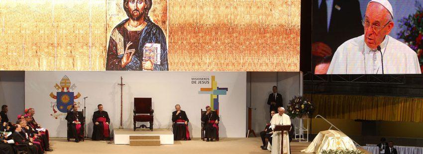 papa Francisco viaje a Colombia encuentro con sacerdotes religiosos religiosas y seminaristas Medellín 9 septiembre 2017