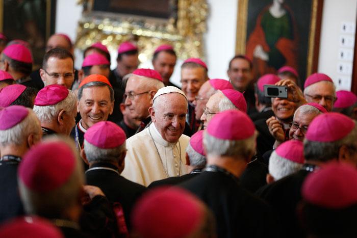 papa Francisco viaje apostólico a Colombia 6-10 septiembre 2017 con los obispos de Colombia