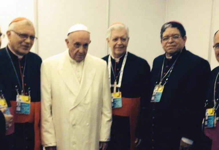Encuentro de Francisco con los obispos venezolanos en Colombia