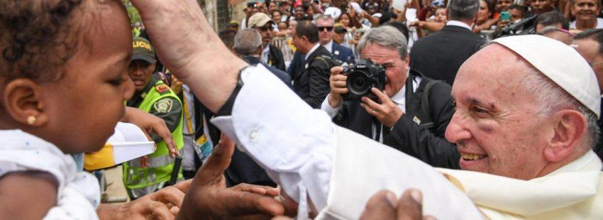 El Papa Francisco en Cartagena (Colombia) el 10 de septiembre de 2017/EFE