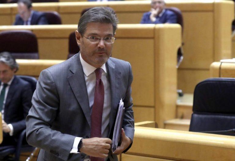 El ministro de Justicia, Rafael Catalá, en el Senado/EFE