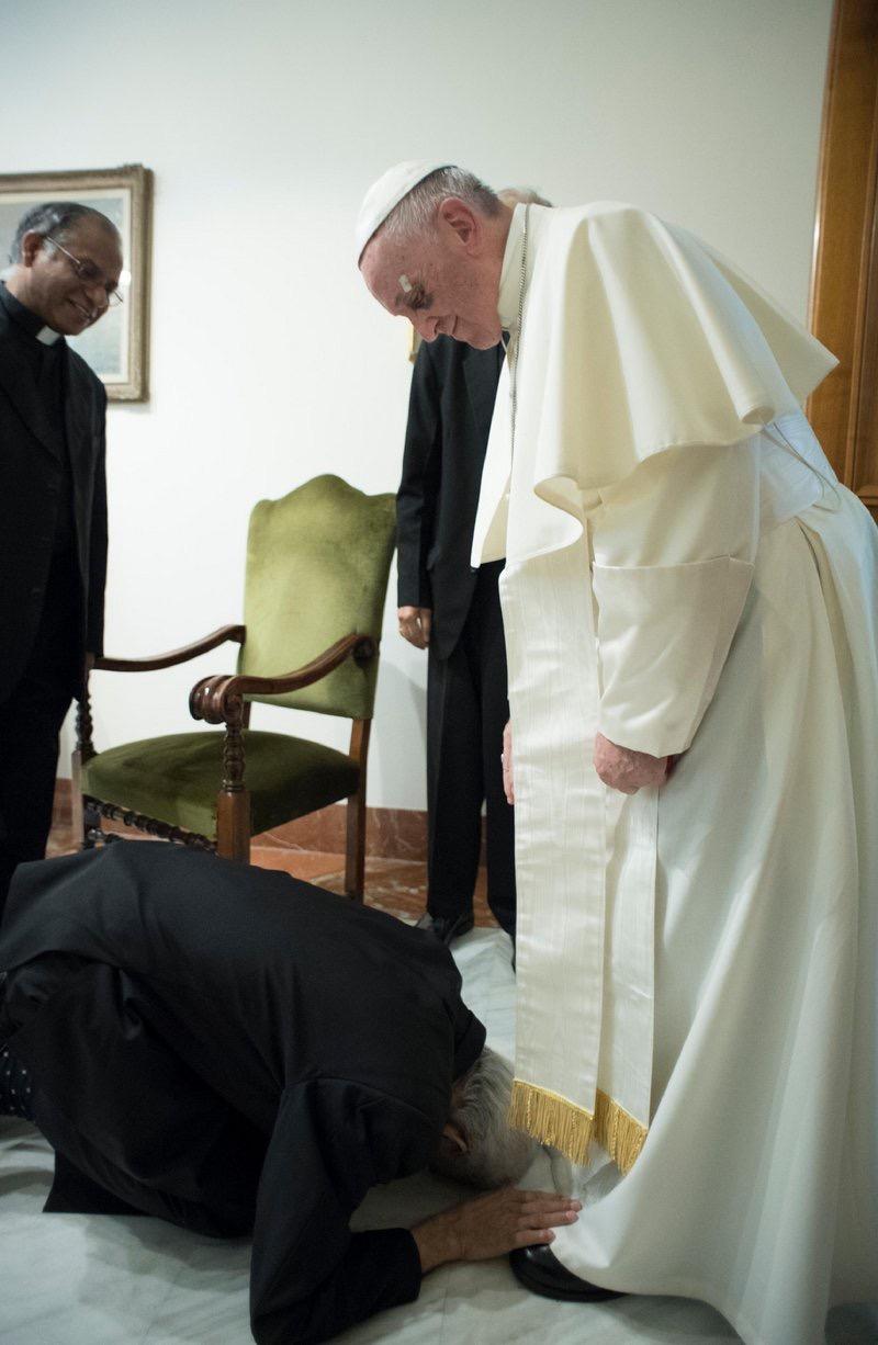 El salesiano Tom Uzhunnalil secuestrado en Yemen, recibido por el Papa Francisco/LOSSERVATORE ROMANO