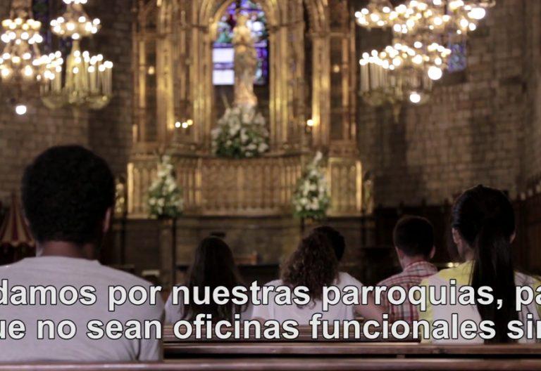 pantallazo el vídeo del papa Francisco septiembre sobre parroquias en misión