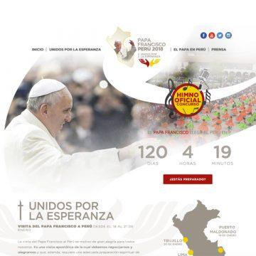 página web oficial de la visita del papa Francisco a Perú enero 2018