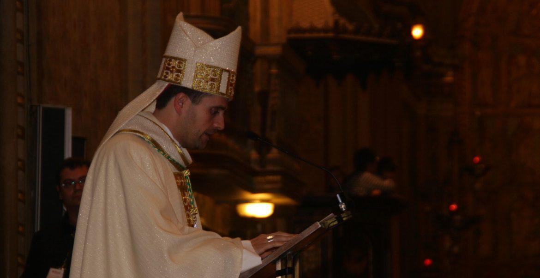 El obispo de Solsona, Xavier Novell, durante su ordenación episcopal/Bisbat Solsona