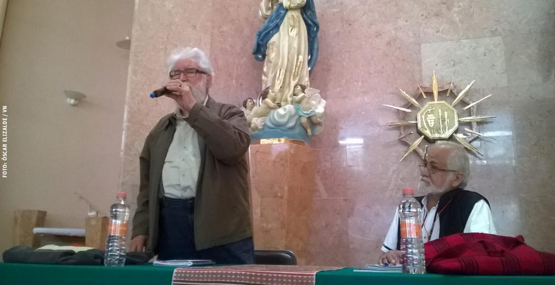 Leonardo Boff teólogo brasileño en las III Jornada Teológica de Amerindia México octubre 2017