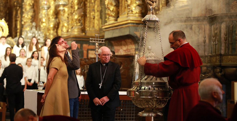 Luz Casal pronuncia pregón del Domund 2017 catedral de Santiago de Compostela 11 octubre 2017