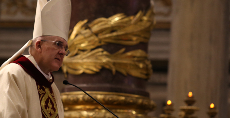 Carlos Osoro cardenal arzobispo de Madrid preside eucaristía de acción de gracias por la canonización de Faustino Míguez Basílica de Santa María la Mayor Roma 16 octubre 2017