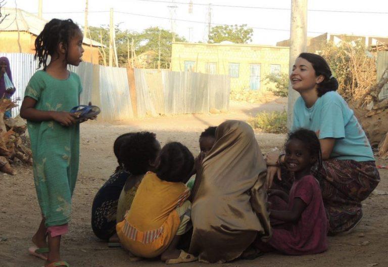 La misionera laica española Belén Manrique, en Etiopía