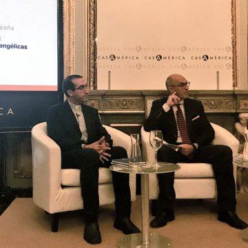ponencia en Madrid crecimiento de las iglesias evangélicas en América Latina Casa América octubre 2017