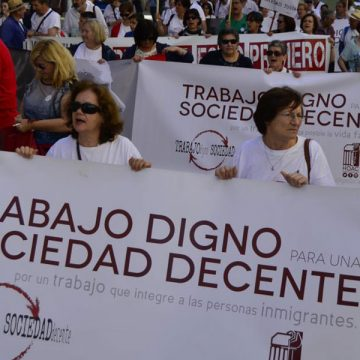 Iglesia por el Trabajo Decente manifestación de la HOAC en la diócesis de Málaga