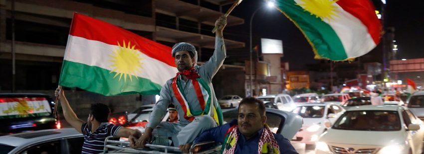 El pueblo de Kurdistán celebra el resultado del referéndum de independencia 3 octubre 2017