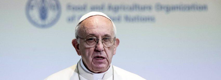 papa Francisco visita la sede FAO Roma 16 octubre 2017