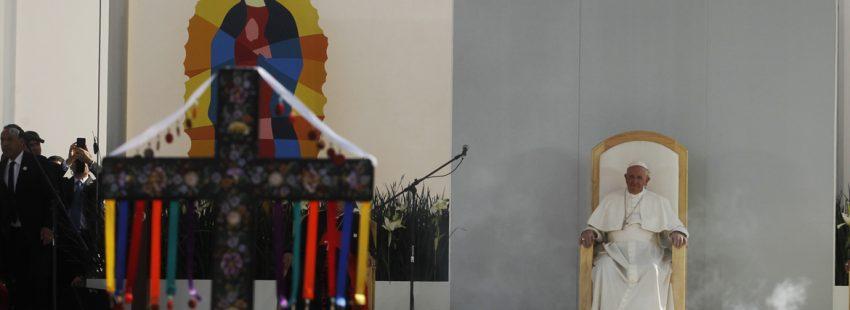 papa Francisco preside una misa con jóvenes durante su viaje a México febrero 2016