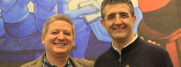 Ernesto Sánchez Barba y Luis Carlos Gutiérrez Blanco, superior y vicario de los maristas respectivamente