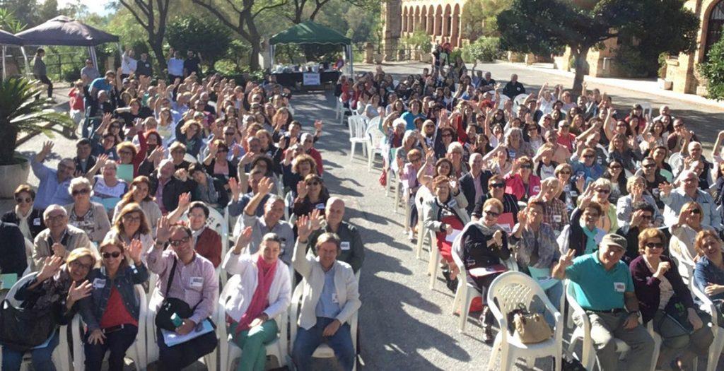 personas miembros de Acción Católica durante un encuentro