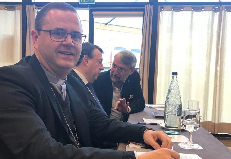 El obispo auxiliar Sergi Gordo, en la Jornada del Grup Sant Jordi