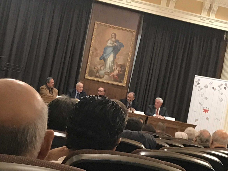Vista del Salón Arrupe, en Madrid, donde el cardenal Omella presidió la presentación del libro de Juan María Laboa el 21 de noviembre de 2017