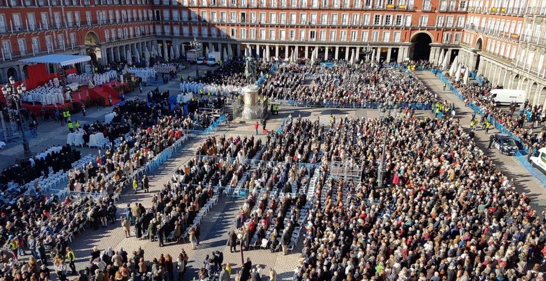 La Plaza Mayor de Madrid, durante la celebración de la fiesta de su patrona/ARCHIMADRID