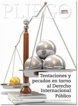 portada Pliego Tentaciones y pecados en torno al Derecho Internacional Público 3059 noviembre 2017