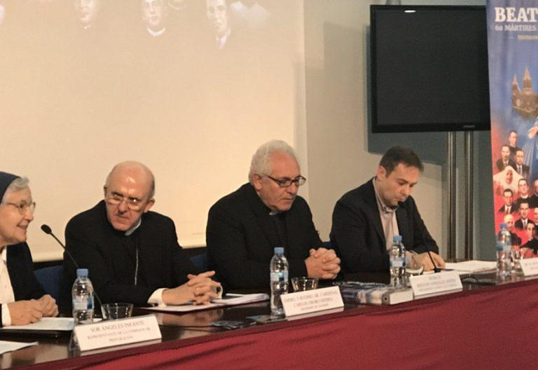 rueda de prensa en Madrid para presentar los detalles de la beatificación en Madrid de 60 mártires de la Familia Vicenciana noviembre 2017
