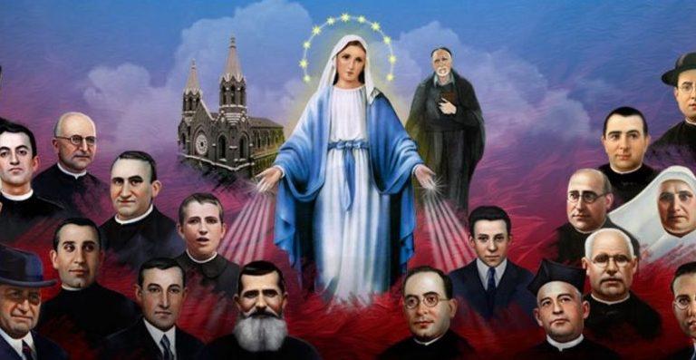 Algunos de los 60 mártires vicencianos beatificados el 11 de noviembre de 2017