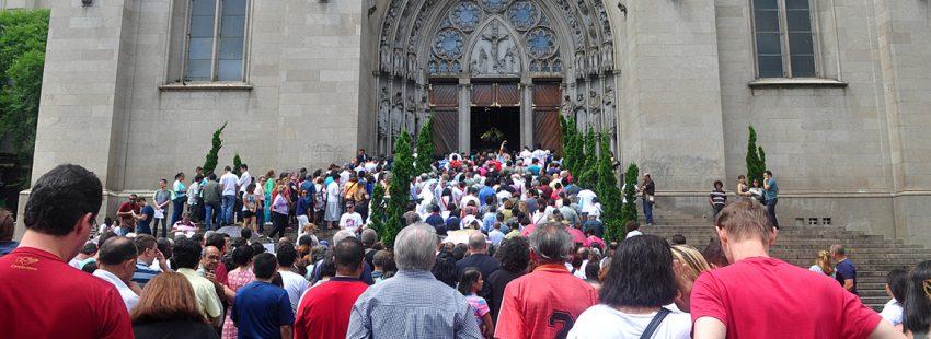 Catedral de Sao Paulo Brasil apertura Puerta Santa Jubileo de la Misericordia diciembre 2015