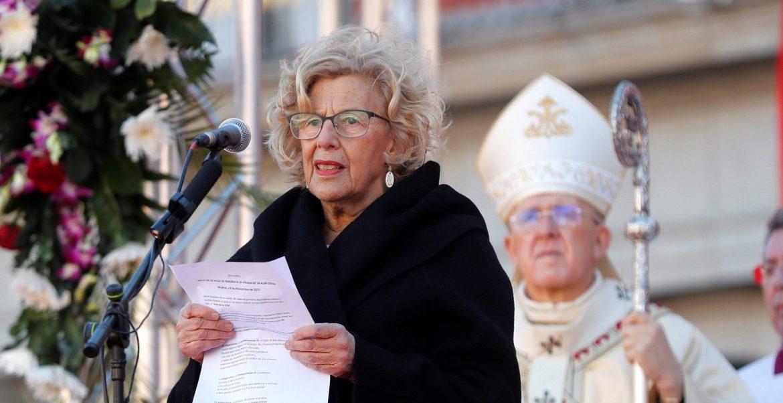 La alcaldesa de Madrid, Manuela Carmena, renueva el voto de la Villa a la Virgen de la Almudena/EFE