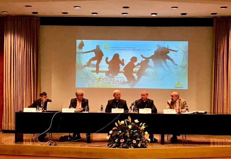 Apertura de la 24ª Asamblea de CONFER, con la presencia de Renzo Fratini y Jesús Catalá