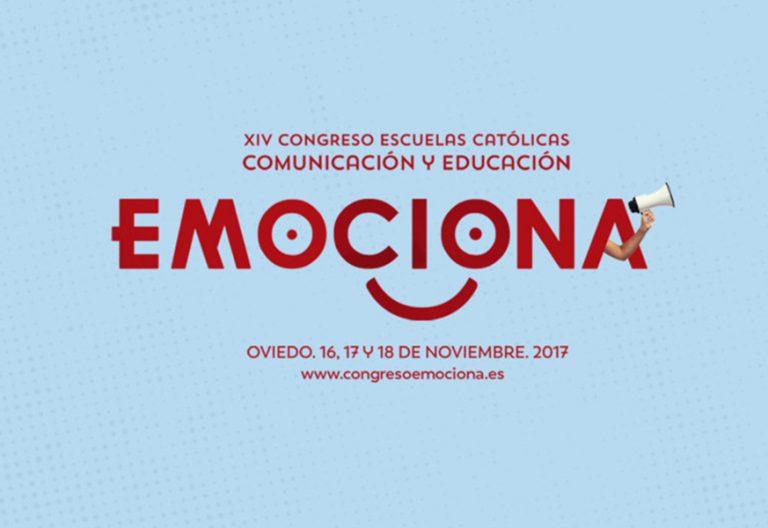 cartel del Congreso de Escuelas Católicas Emociona 2017 noviembre Oviedo