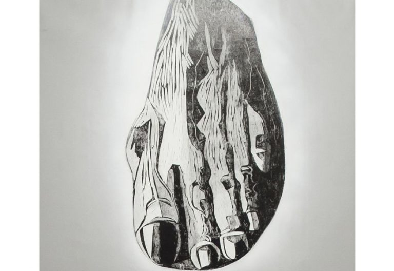 fragmento de Ascensión cuadro de Albina Yaloza