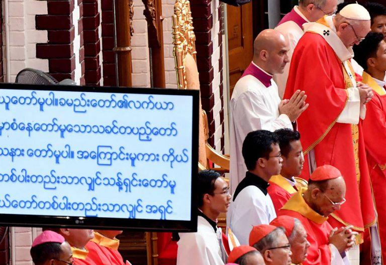 papa Francisco preside misa con los jóvenes en Myanmar Catedral de Rangún 30 noviembre 2017