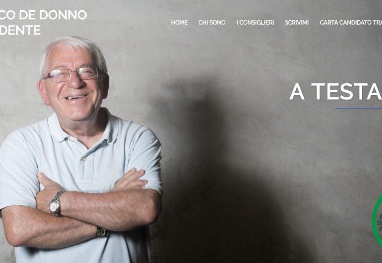 Franco de Donno, párroco italiano que se ha presentado a las elecciones municipales en Roma noviembre 2017