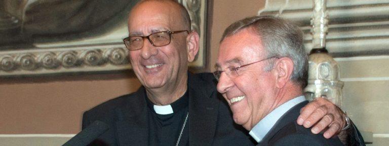 cardenal Juan José Omella arzobispo de Barcelona y Sebastià Taltavull obispo auxiliar y obispo titular de Mallorca