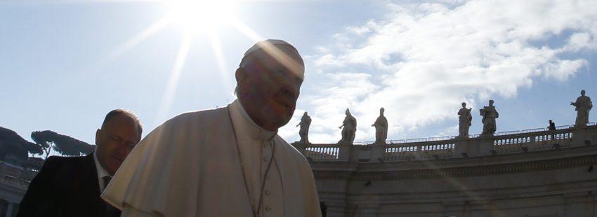 El papa Francisco, durante una audiencia general en San Pedro octubre 2016
