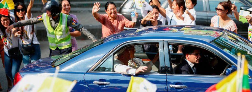El Papa Francisco, el pasado 27 de noviembre de 2017, en su llegada a Myanmar