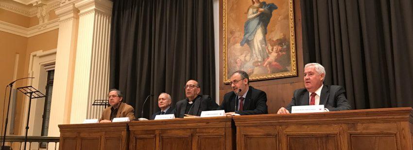 El cardenal Omella preside la presengtación del libro de Juan María Laboa 'Pablo VI, España y el Concilio Vaticano II' el 21 de noviembre de 2017 en Madrid