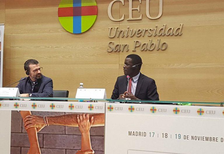 Victor Ochen ugandés Congreso Católicos y Vida Pública noviembre 2017