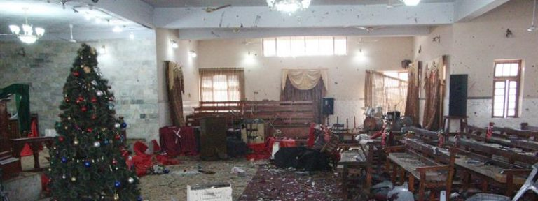 Atentado iglesia metodista en Quetta (Pakistán) perpetrado el domingo 17 de diciembre mientras se celebraba la misa dominical y en el que al menos fallecieron nueve personas en un acto suicida