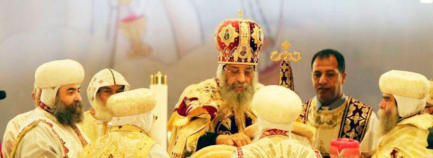 El papa Tawadros II en una imagen de archivo Iglesia copta ortodoxa