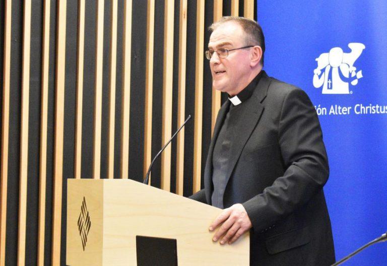 El sacerdote Gonzalo Ruipérez, en los premios Alter Christus 2017