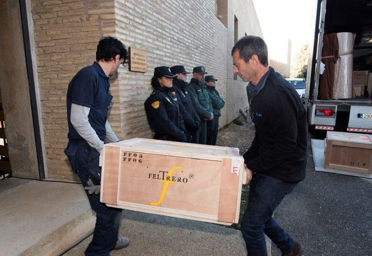 llegada de los bienes de Sijena al monasterio de Huesca procedentes de Lleida 11 diciembre 2017