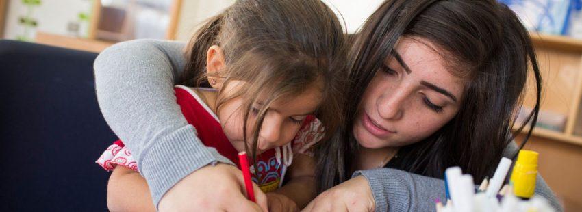 centro de Cáritas en Siria para refugiados
